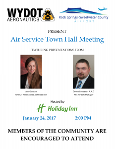 Air Service Town Hall Meeting Invititation - January 2017